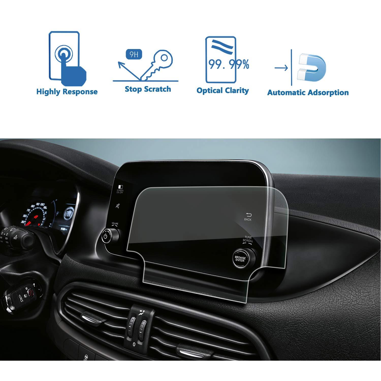 LFOTPP Fiat Tipo Navegaci/ón Protector de Pantalla 9H Cristal Vidrio Templado GPS Navi pel/ícula protegida Glass