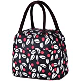 New Boss Lunch Bag,Reusable Leaves Pattern Lunch Box Tote Bag Perfect For Adults and Kids, Lunch Organizer Lunch Holder for Work,Travel,Picnic