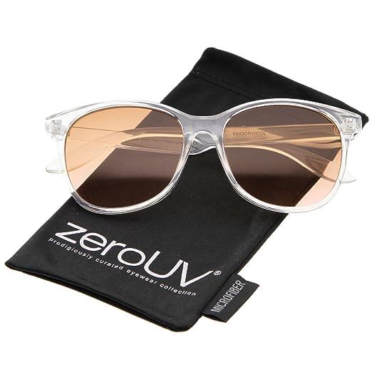 132091fe1ceb0 Modern Clear Frame Gradient Flat Lens Horn Rimmed Sunglasses 55mm (Clear  Orange-Pink