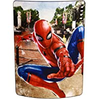 """Marvel Spider-Man: Far from Home, """"Back in the Neighborhood"""" Micro Raschel Throw Blanket, 46"""" x 60"""", Multi Color"""