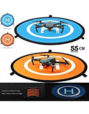 iMusk Drone and Quadcopter Landing Pad RC Aircraft Soft Landing Gear Surface Made of Waterproof Eco-Friendly Rubber for DJI Mavic Phantom 3 4 Spark Mavic Pro (55cm)