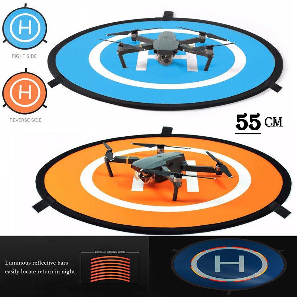 iMusk Drone y Quadcopter Landing Pad 22 Pulgadas (55cm) RC Aircraft Superficie de Aterrizaje Suave Hecha de Goma ecológica Resistente al Agua para dji Mavic Phantom 3 4 Chispa Mavic Pro