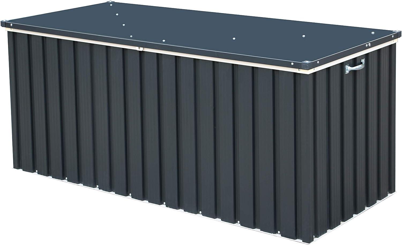 Duramax Arcón Hermes metálico: 73x173x72 cm. GAN Capacidad de almacenaje, Gris Antracita