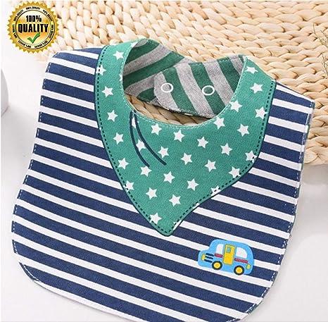 baberos de Doble Cara, 100% Algodón, impermeables, elegantes divertidos y refinado para TU bebé. (modelo 16): Amazon.es: Bebé