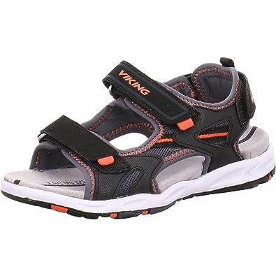 Viking Unisex Kids' Skumvaer Open Toe Sandals grey Size: 5 Child UK