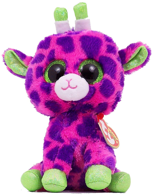 "Ty Beanie Boos Plush Toy Doll Big Eyes Gilbert The Pink Giraffe Regular  Size 6"" 55fc6659b2ed"