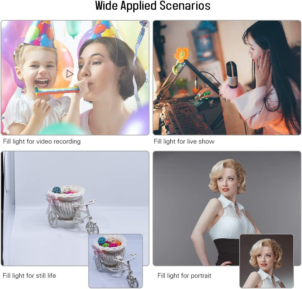 for Shooting Video Portraits Still Life Fashion Wedding Art Photography Andoer Photography Studio LED Lighting Kit Dimmable LED Video Light Handheld Fill Light with Light Stand 36W 5500K CRI90