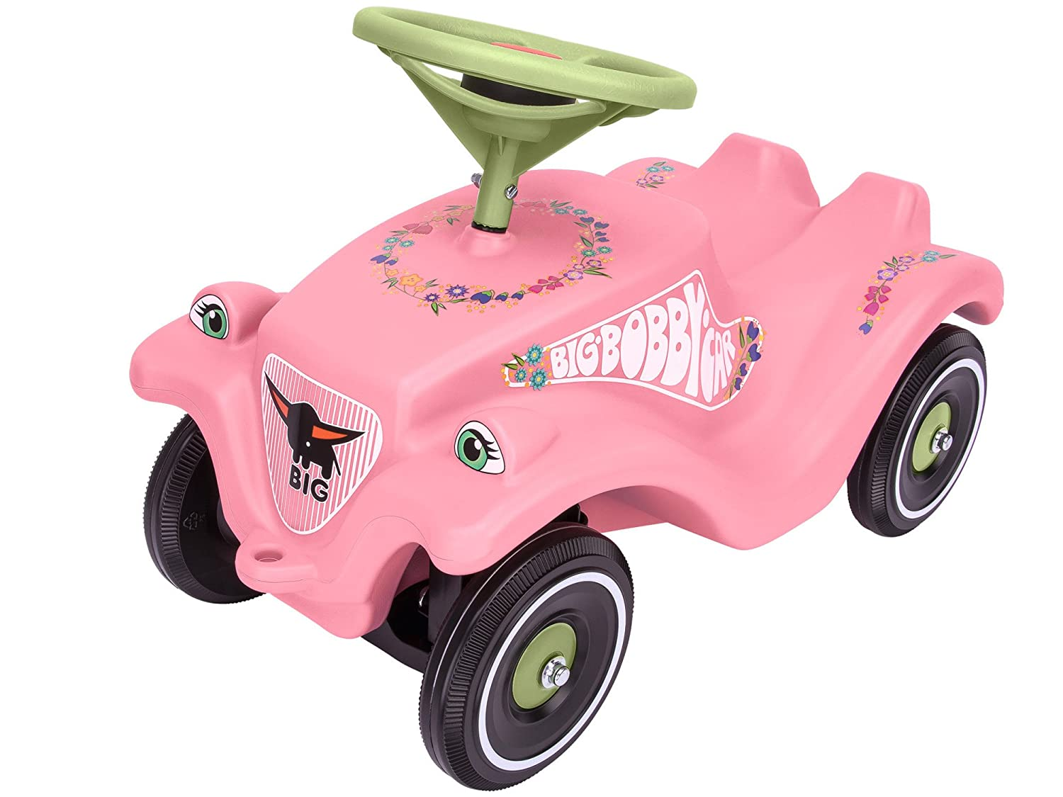 Big Bobby Car Classic Toy Factory 800056110 Flower Rideon – Pink