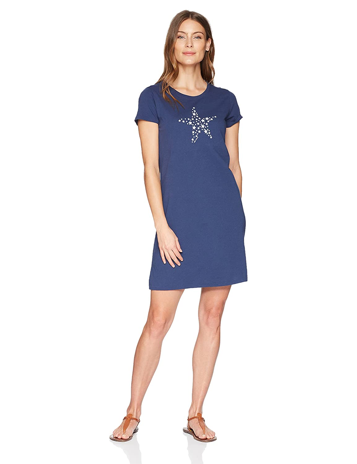 Life is Good Womens Smooth Tee Dress Smaller Stars The Life is good Company