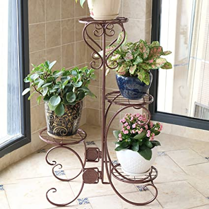 Pergolas/Flower Racks Iron Flower Stand Indoor/Outdoor Flower Stand Floor-Standing Flower