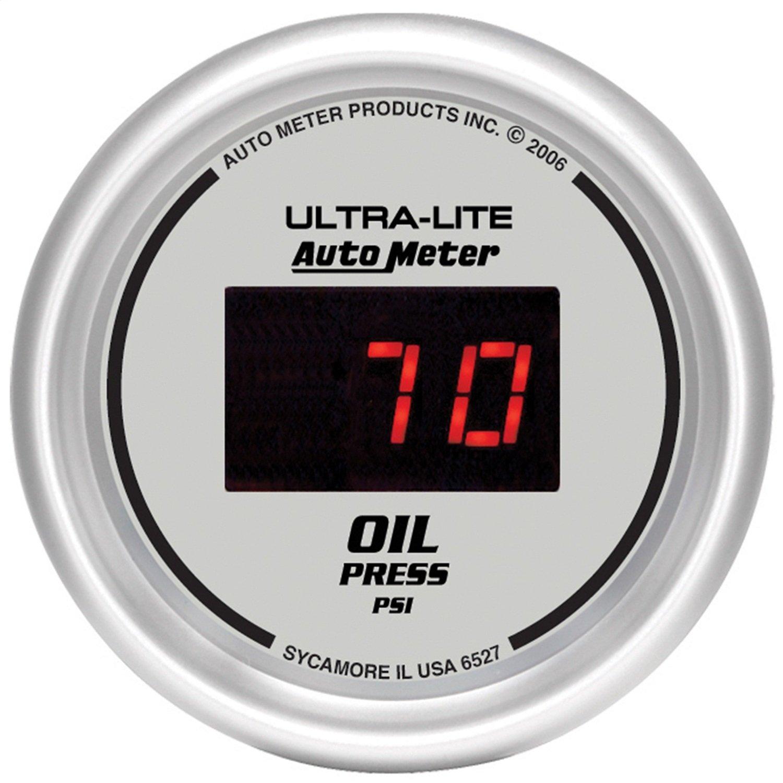 Auto Meter 6527 Ultra-Lite Digital 2-1/16'' 0-100 PSI Digital Oil Pressure Gauge