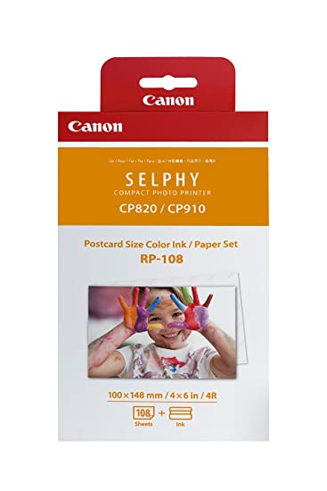 canon rp 108 color inkpaper set compatible with selphy cp910cp820 - Canon Selphy Color Ink Paper Set