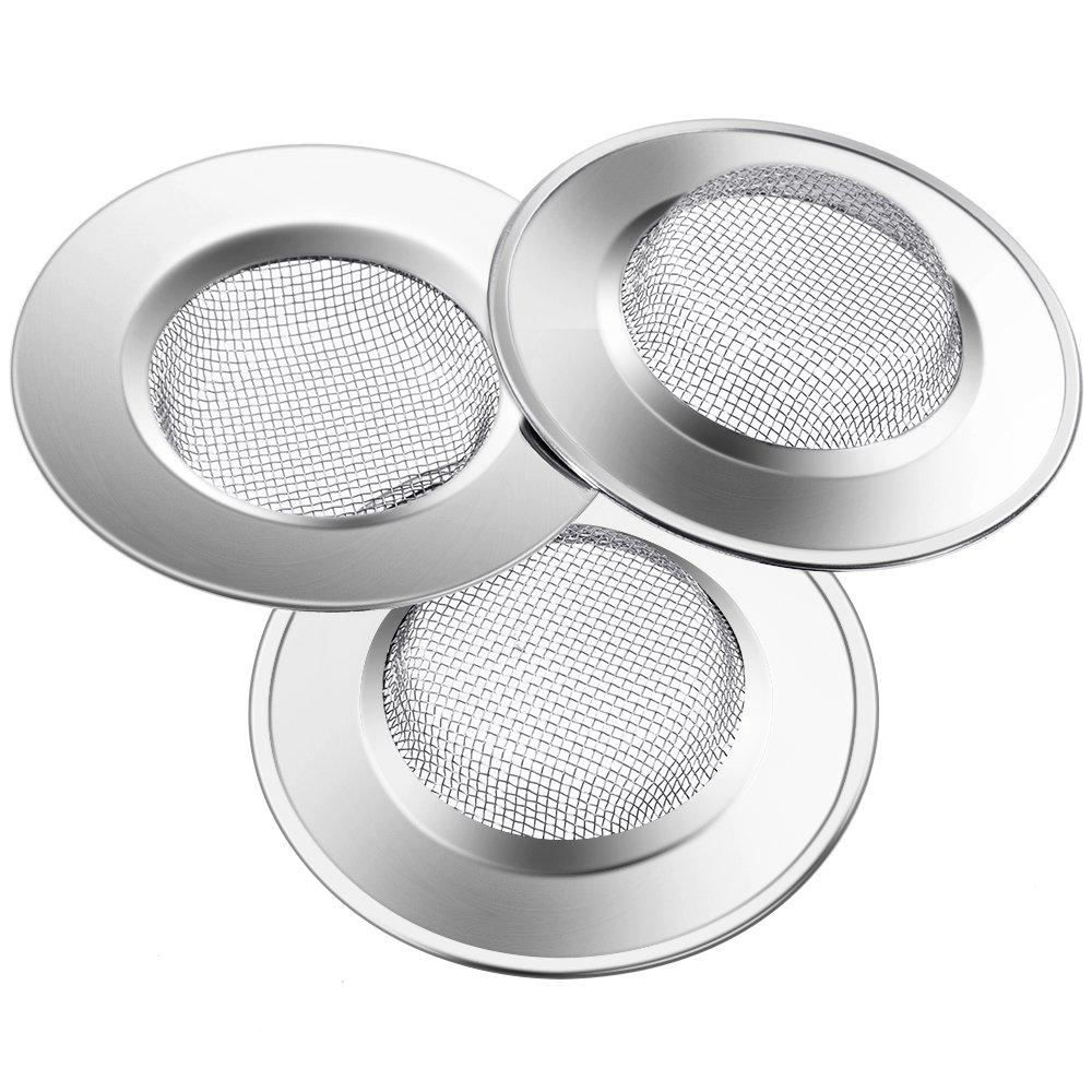 Anpro Stainless Steel Kitchen Bathroom Sink Strainer 7.5 CM