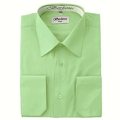 Elegant Men's Button Down Lime Green Dress Shirt at Amazon Men's ...
