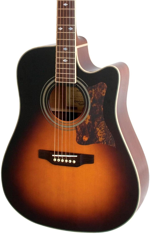 epiphone dr 500mce dreadnought acoustic electric guitar vintage sunburst ebay. Black Bedroom Furniture Sets. Home Design Ideas