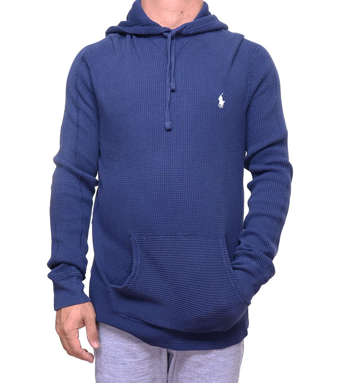 f3a0551b Polo Ralph Lauren Men's Waffle-Knit Cotton Hoodie at Amazon ...