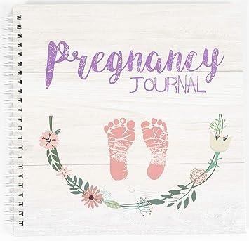 Amazon.com: My 9 Month Journey - Diario de embarazo y libro ...