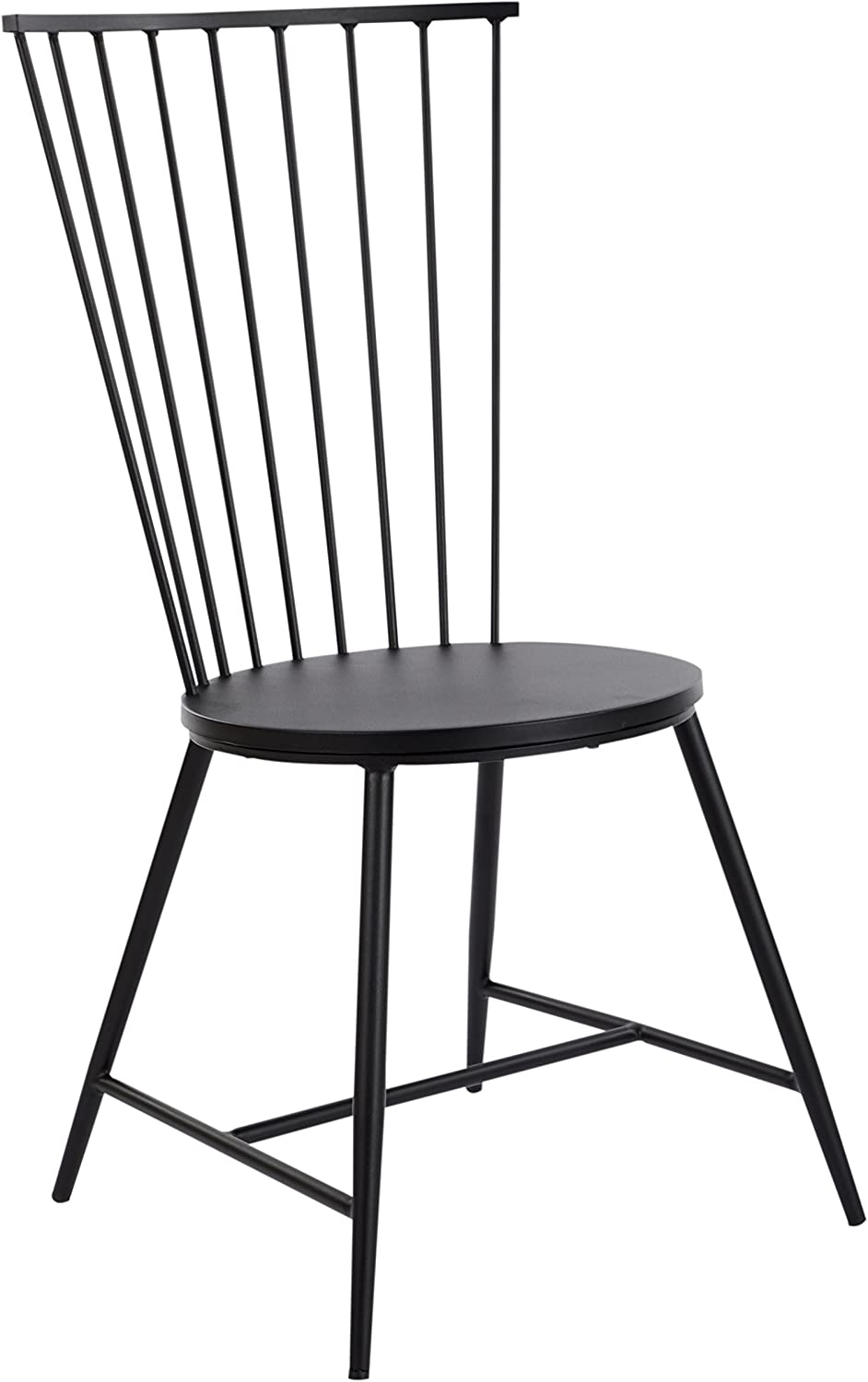 "OSP Designs BRY6519-3 Bryce 26"" Dining Chair, Black"