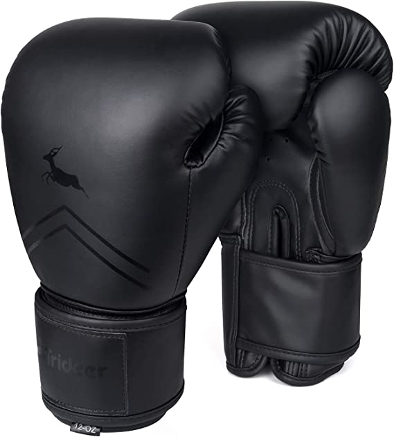 Trideer Pro Grade Boxing Gloves for Men and Women, Kickboxing Bagwork Gel Sparring Training Gloves