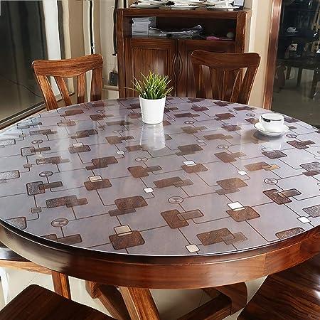 Tablecloth Protector De Mesa De PVC Redondo Transparente,Gruesas ...