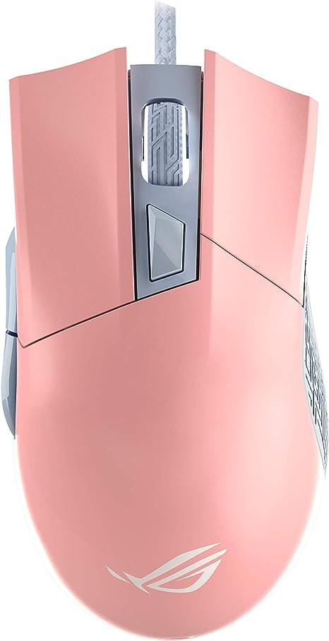 ASUS ROG Gladius II Origin PNK LTD Ergonomic Wired Optical Gaming Mouse Optimised for FPS, Featuring Aura Sync