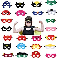 USA WOLF Superheroes Party Masks Boys & Girls Birthday Party Favors and Party Supplies