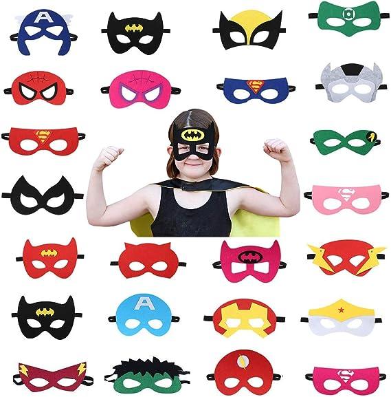 Amazon.com: Máscaras de fiesta de superhéroes para niños y ...