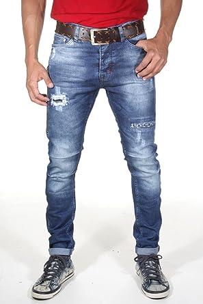 EX-PENT Men's Slim Jeans Blue Blue - Blue - W31