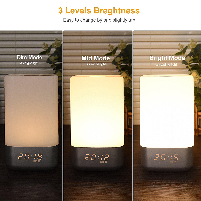 Color Changing Alarm Clocks Wake up Light Digital Desk Clock Natural Lamp Sunrise Clock Bedrooms for Kids KaKoKei