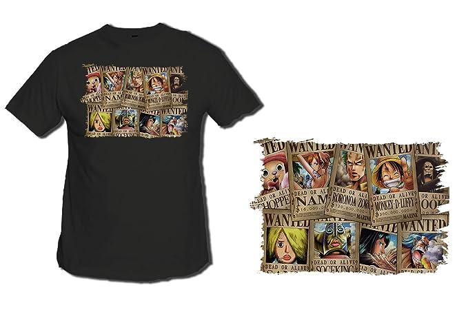 Camiseta Negra Onepiece SE Busca Cartel PJ Tshirt Custom ...