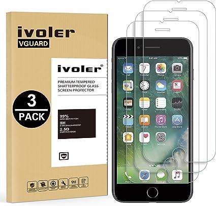 ivoler [3 Unidades] Protector de Pantalla para iPhone 6S Plus/iPhone 6 Plus, Cristal Vidrio Templado Premium: Amazon.es: Electrónica