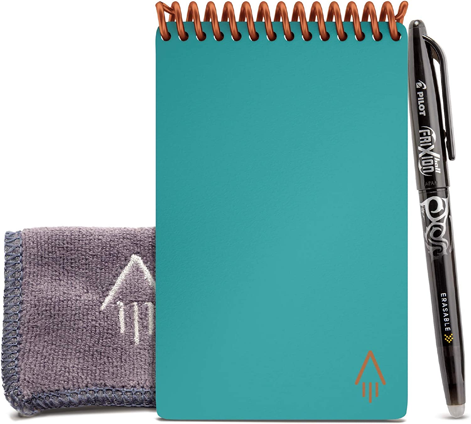 Beacon Orange Cover Dot-Grid Eco-Friendly Notebook with 1 Pilot Frixion Pen /& 1 Microfiber Cloth Included 3.5 x 5.5 Rocketbook Smart Reusable Notebook Mini Size
