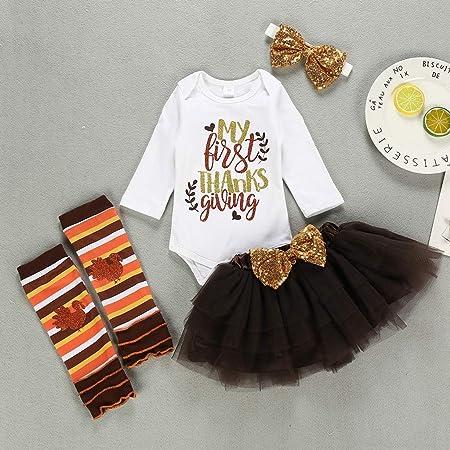Vectry Navidad Vestido De Niñas Princesa Vestido Costume Conjunto De Calcetines De Diadema De Falda De Tutú De Día De Acción De Gracias para Bebé Outfits Vestido De Tutú Flores Cumpleaños
