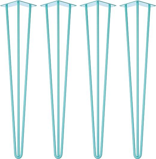 Wicked Hairpins 4 x Azul Patas de Horquilla para Mesa - La Gama ...