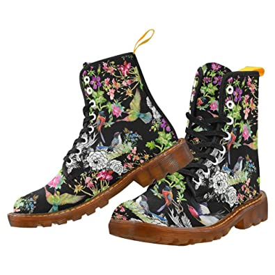 your-fantasia Canvas Boots colorful birds and butterfly watercolor Shoes for Women