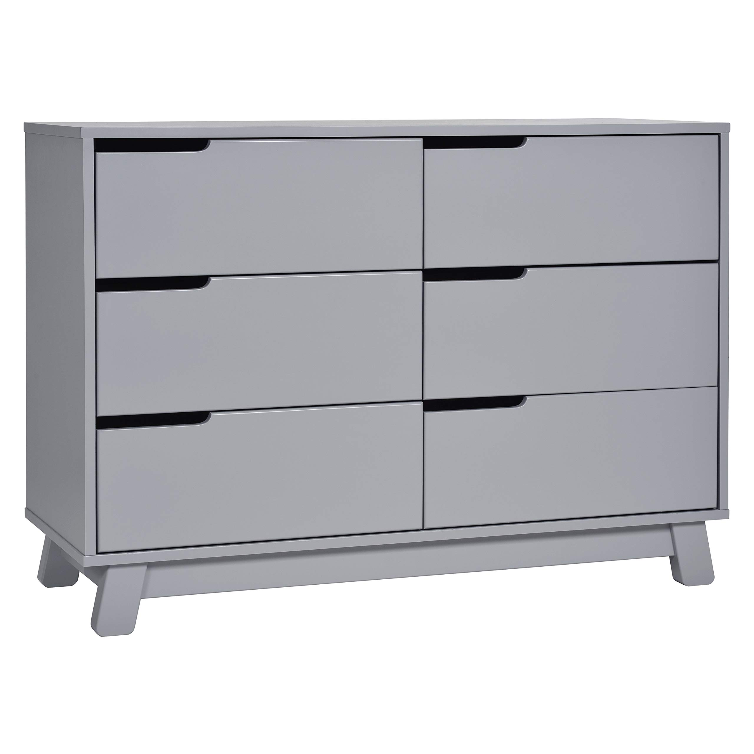 Babyletto Hudson 6-Drawer Assembled Double Dresser, Grey by babyletto