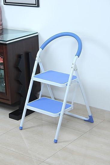 Ozone OHZ LAD KT02 2 Step Kitchen Ladder (Blue And White)