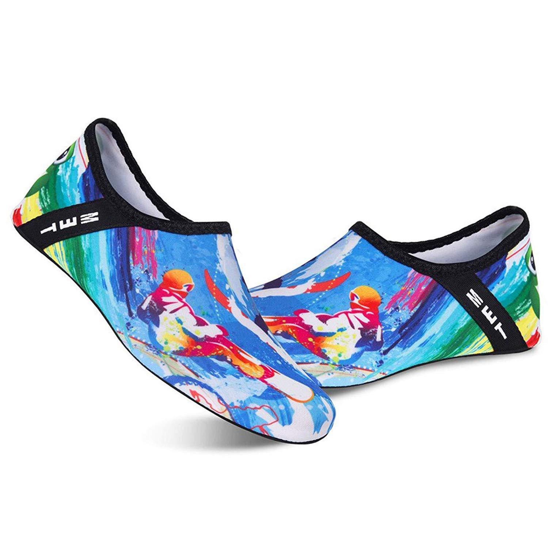 BAVIRON Water Shoes Women Men Beach Aqua Sports Solid Quick Drying Swim Yoga Barefoot Pool Shoes