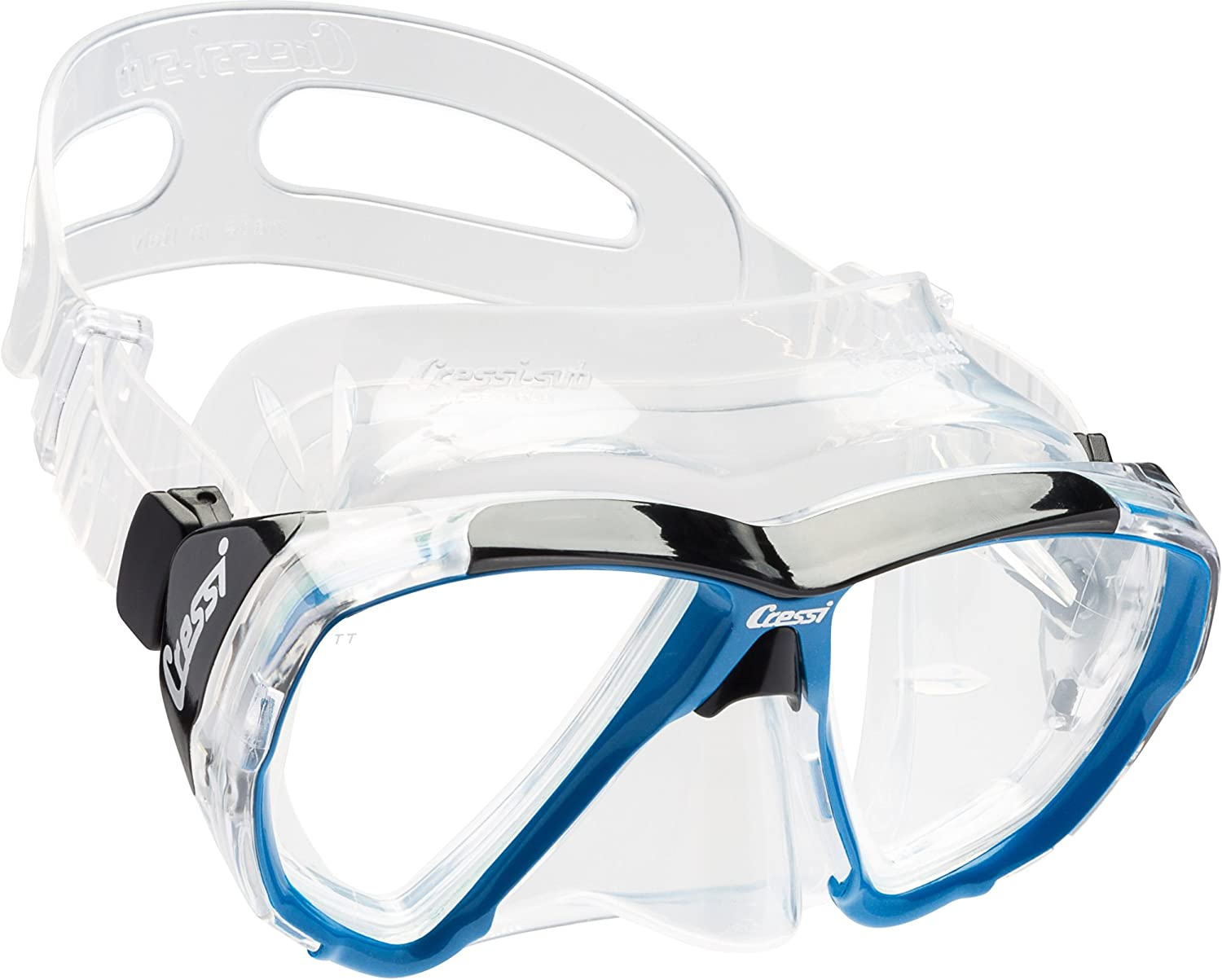 Cressi Adult Dive Mask with Inclined Lens for Scuba Diving - optical lenses available | Big Eyes: made in Italy