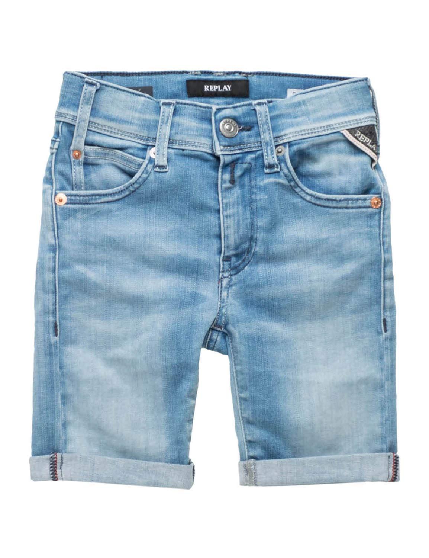 Replay Boys Kids Hyperflex Shorts Light Blue in Size 14 Years