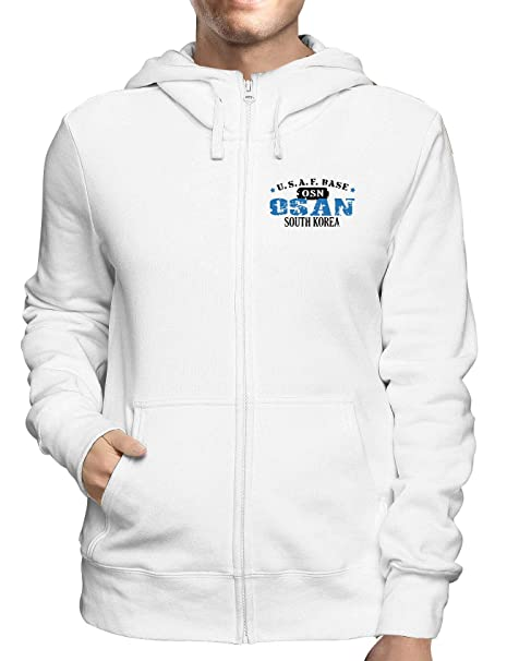 Sudadera con Capucha Zip Blanco WTC0725 osan Air Force Base: Amazon.es: Ropa y accesorios