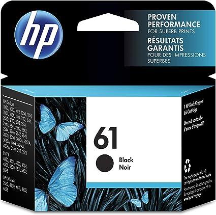 HP 61 Black - Cartucho de Tinta para impresoras (20-80%, -20-60 °C ...