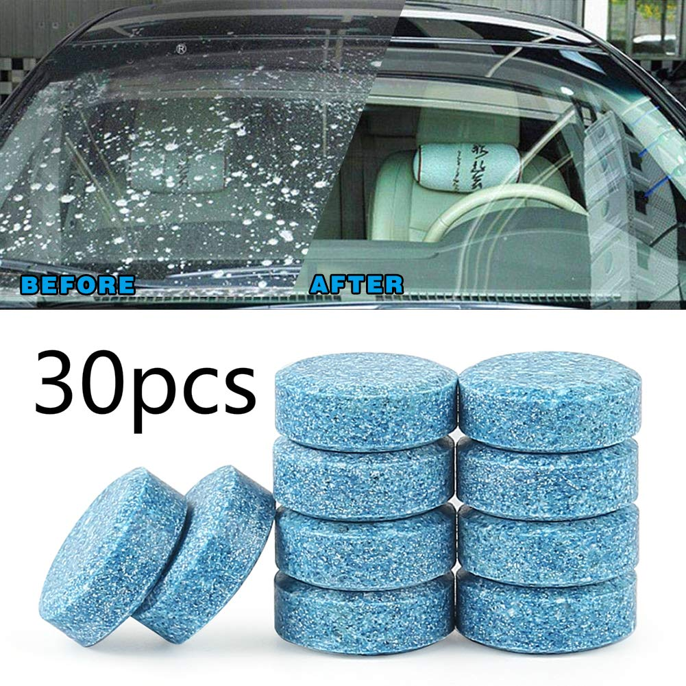 30pcs Car Windshield Clean Washer Tablets Side Rear Window Cleaning Solid Wiper Cleaning Tool SINOTECHQIN