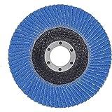 10 Stück SBS Fächerscheiben 125 mm / Korn 40 Blau Schleifscheiben Schleifmop