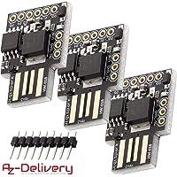 AZDelivery 3 x Placa de Desarrollo Digispark Rev.3 Kickstarter ATTiny85 con USB para Arduino con E-book incluido!