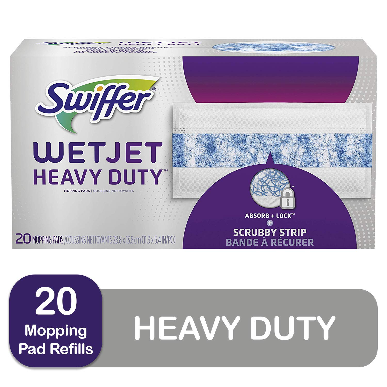 Swiffer Wetjet Heavy Duty Mop Pad Refills for Floor Mopping and Cleaning, All Purpose Multi Surface Floor Cleaning…