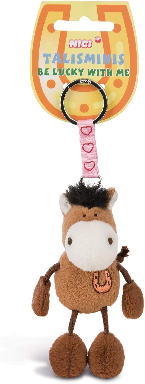 Nici 33685 Pferd Beanbag Schlüsselanhänger Talismin 7 Cm Braun Spielzeug