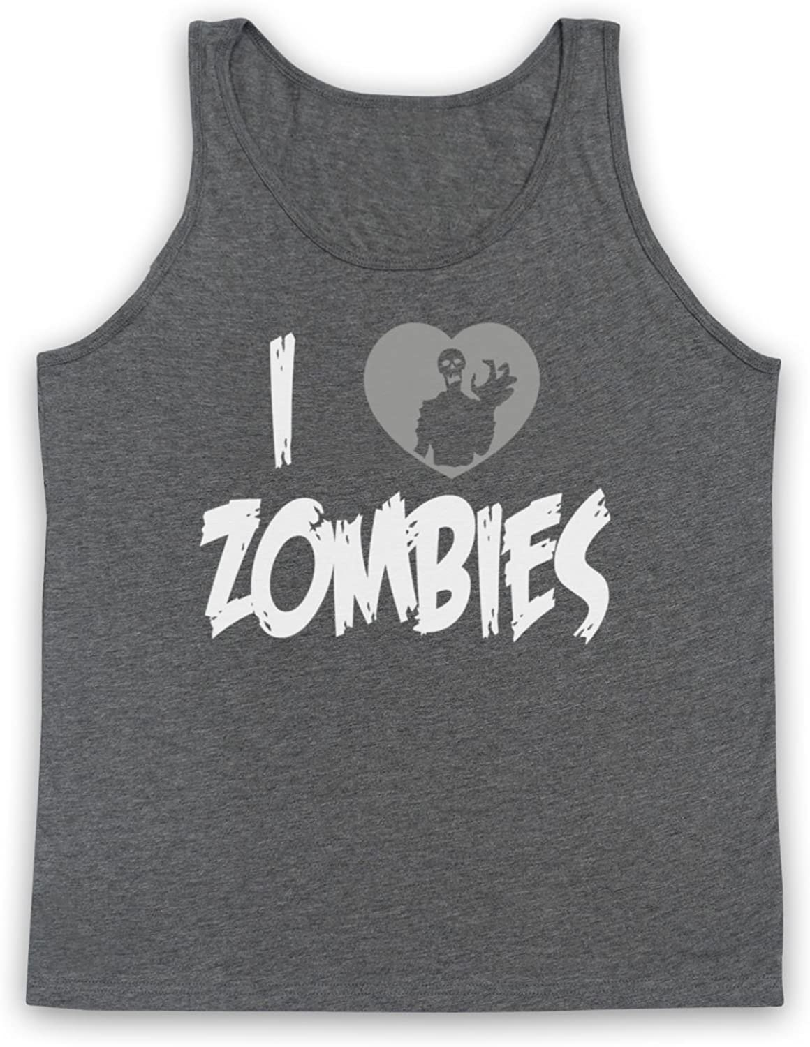 My Icon Mens I Love Zombies Funny Slogan Tank Top Vest