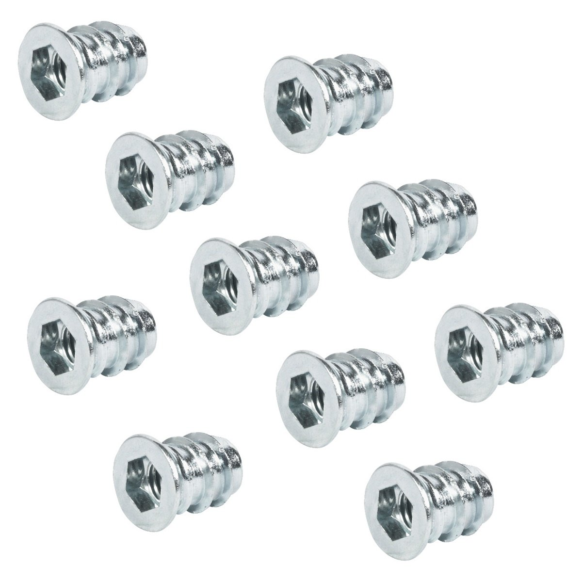 100 Stück - Einschraubmuffen Metall Eindrehmuffe mit Abdeckrand | M8 x 24 mm | Einschraubmutter Stahl verzinkt | Antrieb: Innensechskant | Möbelbeschläge von GedoTec® GedoTec®