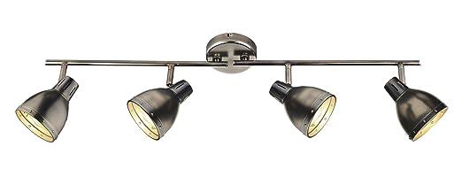osaka 4 light bar track light finish antique chrome amazon co uk